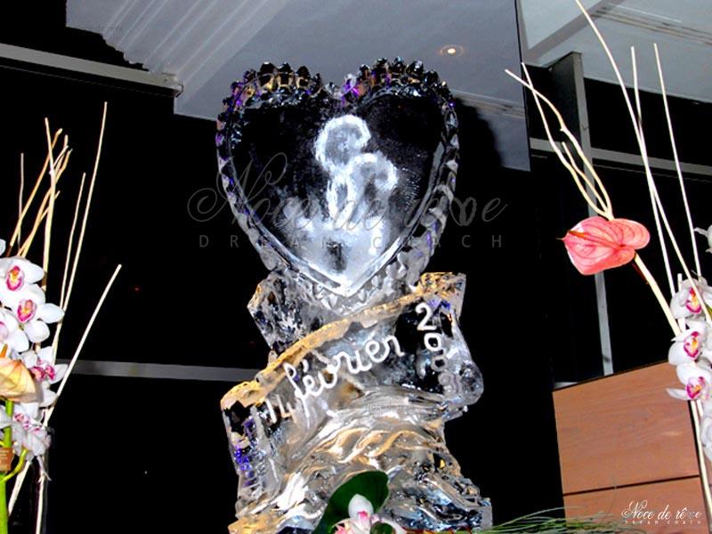 Sculpture de glace mariage