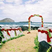 Décoration thématique d'une cérémonie de mariage