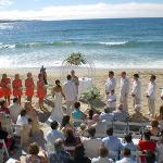 Cérémonie laïque sur la plage