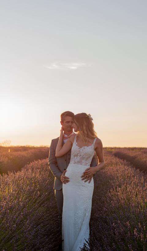 Nos mariés en  Provence