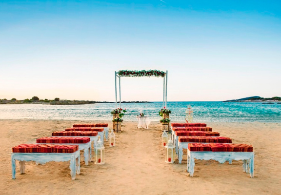 ceremonie sur plage crete