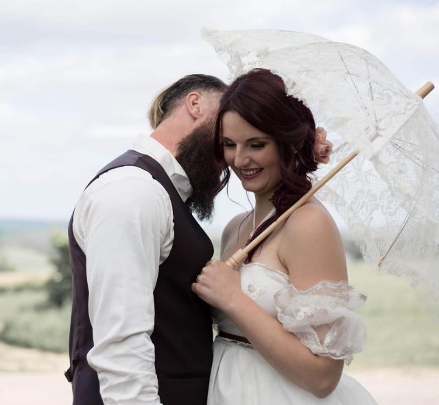couple de mariés thème Steampunk Noce de Rêve by Flovinno