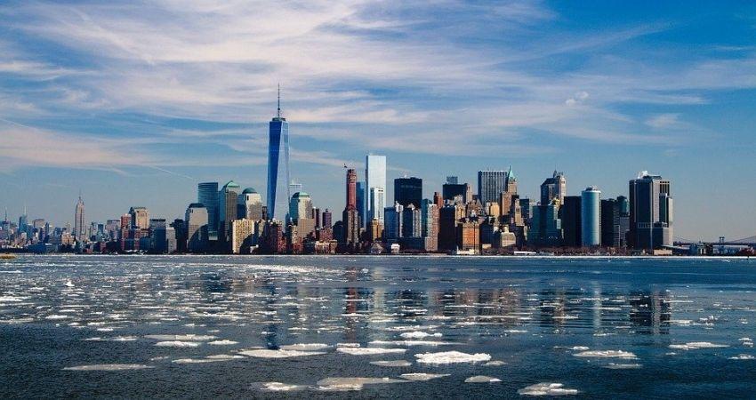 Vue sur les buildings de New-York Noce de rêve by Flovinno