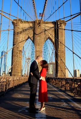 Couple à New York Noce de rêve by Flovinno