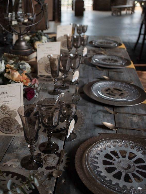 Inspiration table pour le thème steampunk Noce de Rêve by Flovinno