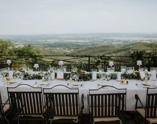 Table de mariage avec vue Noce de rêve by Flovinno