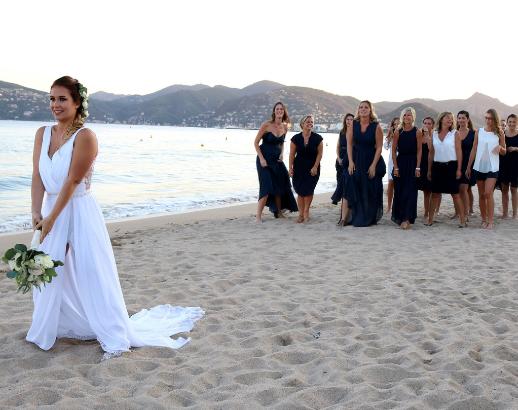 Lancé de bouquet à la plage Noce de rêve by Flovinno