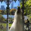 Mariée devant les buildings de NewYork Noce de rêve by Flovinno