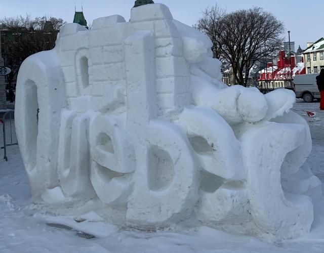 Neige formé pour le mot Québec Noce de Rêve by Flovinno