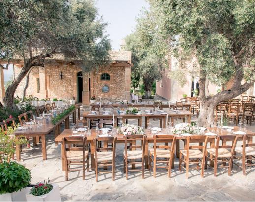 Mariage en Crète sous les oliviers