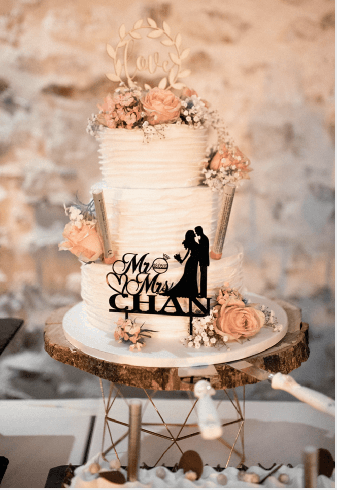 Wedding cake A&A Noce de Rêve by FLOVINNO