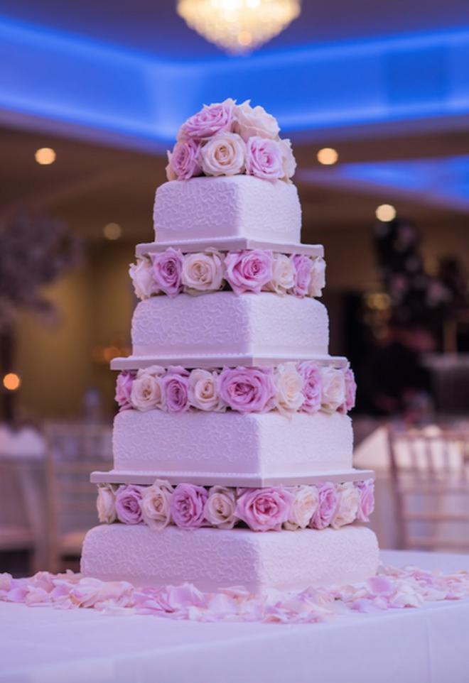 Wedding cake carré Noce de Rêve by FLOVINNO