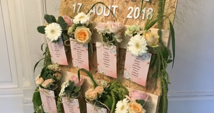 Plan de table fleurs Noce de Rêve by FLOVINNO