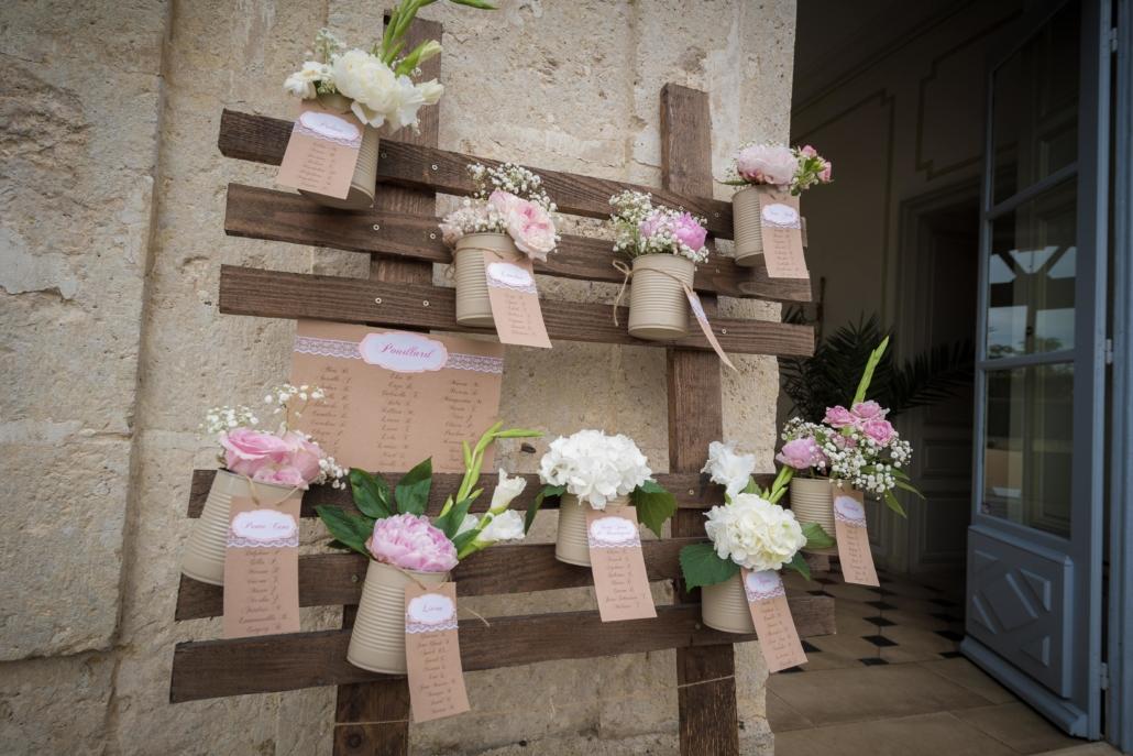 Plan de table pot de fleurs Noce de Rêve by FLOVINNO