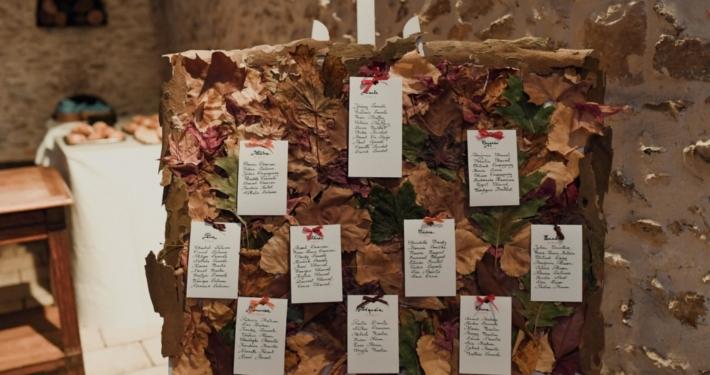 plan-de-table-automne Noce de Rêve by FLOVINNO